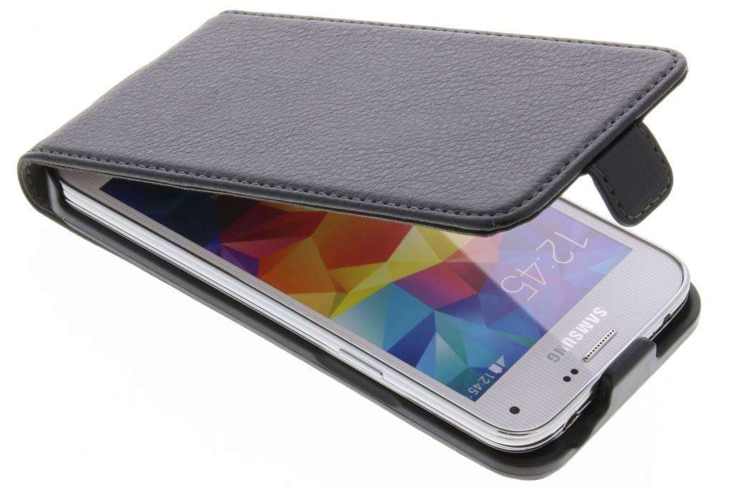 Be Hello Zwarte Flip Case voor de Samsung Galaxy S5 Mini