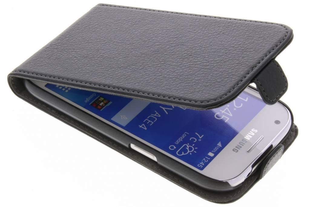 Be Hello Zwarte Flip Case voor de Samsung Galaxy Ace 4