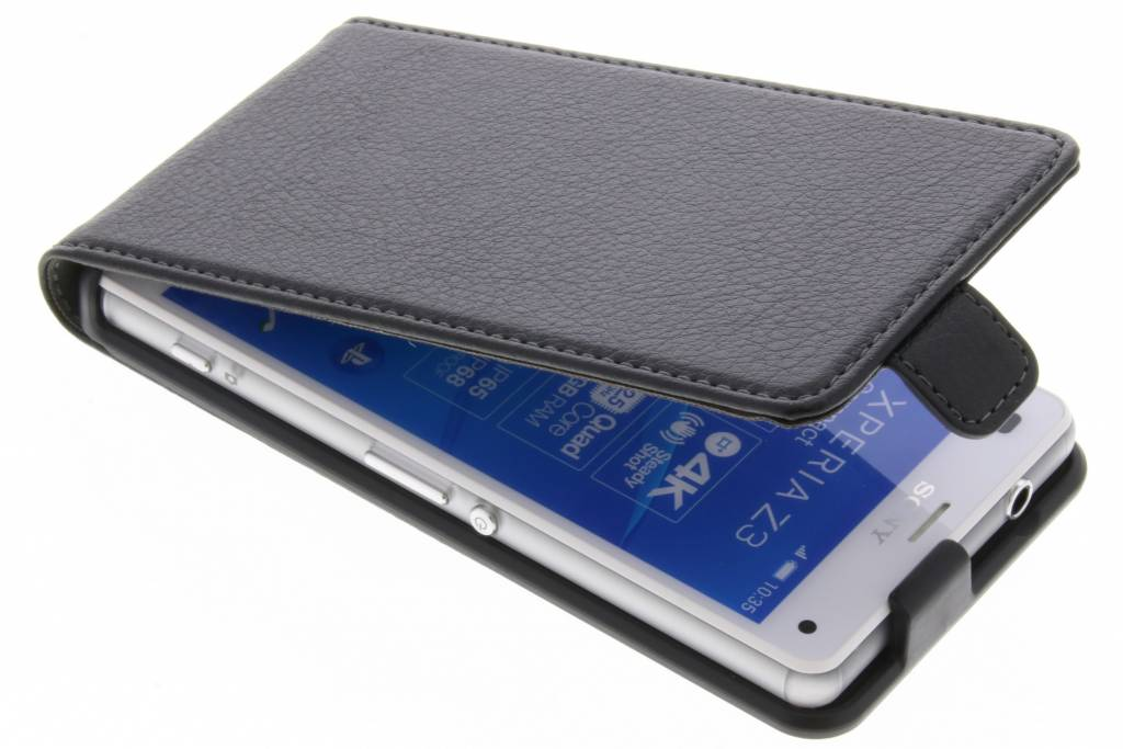 Cas Flip Noir Pour Z3 Sony Xperia Compact FTLIND