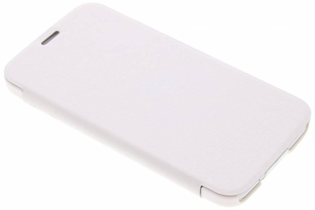 Cas Livret Pour Samsung Galaxy S5 (plus) / Néo - Blanc LuC13WfQuz