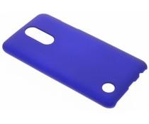 Blauw effen hardcase hoesje LG K4 (2017)
