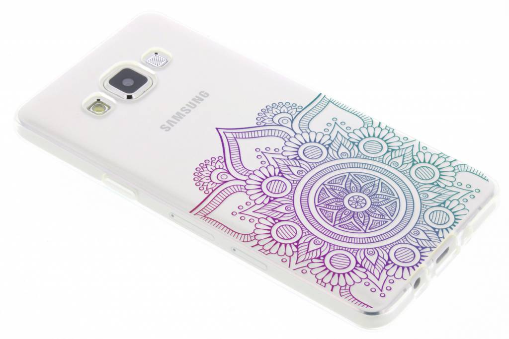 Multicolor mandala design TPU hoesje voor de Samsung Galaxy A5