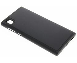 Zwart lederen TPU case Sony Xperia L1