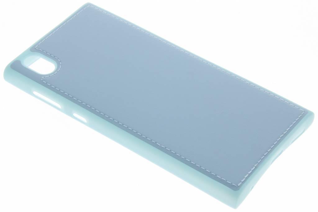 Blauwe lederen TPU case voor de Sony Xperia L1
