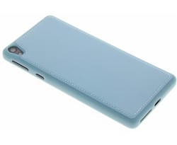 Blauw lederen TPU case Sony Xperia E5