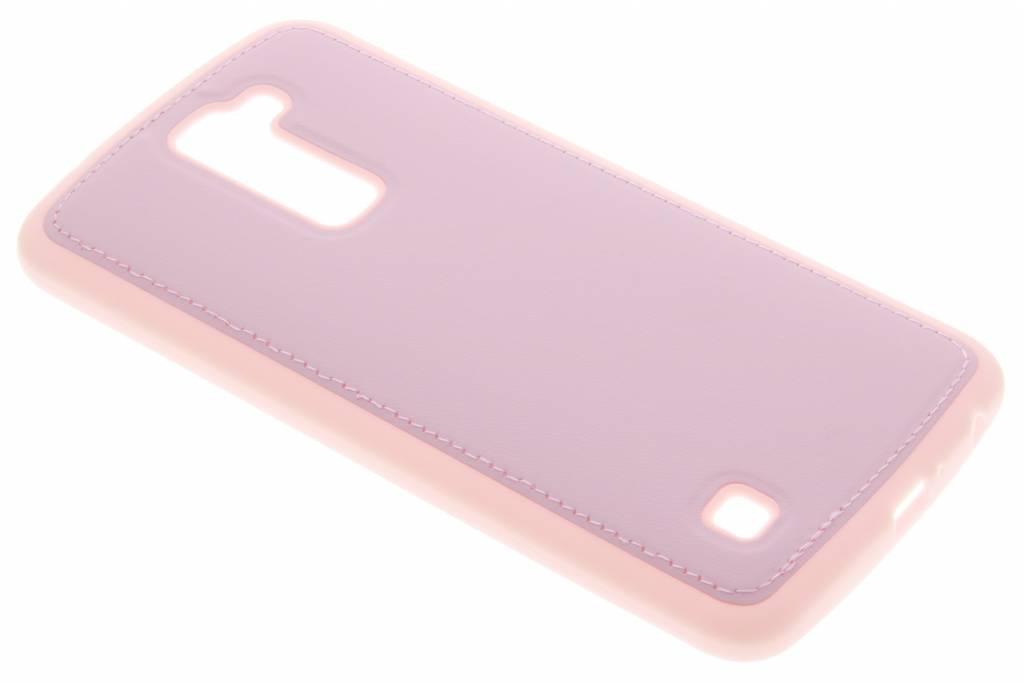 Roze lederen TPU case voor de LG K10