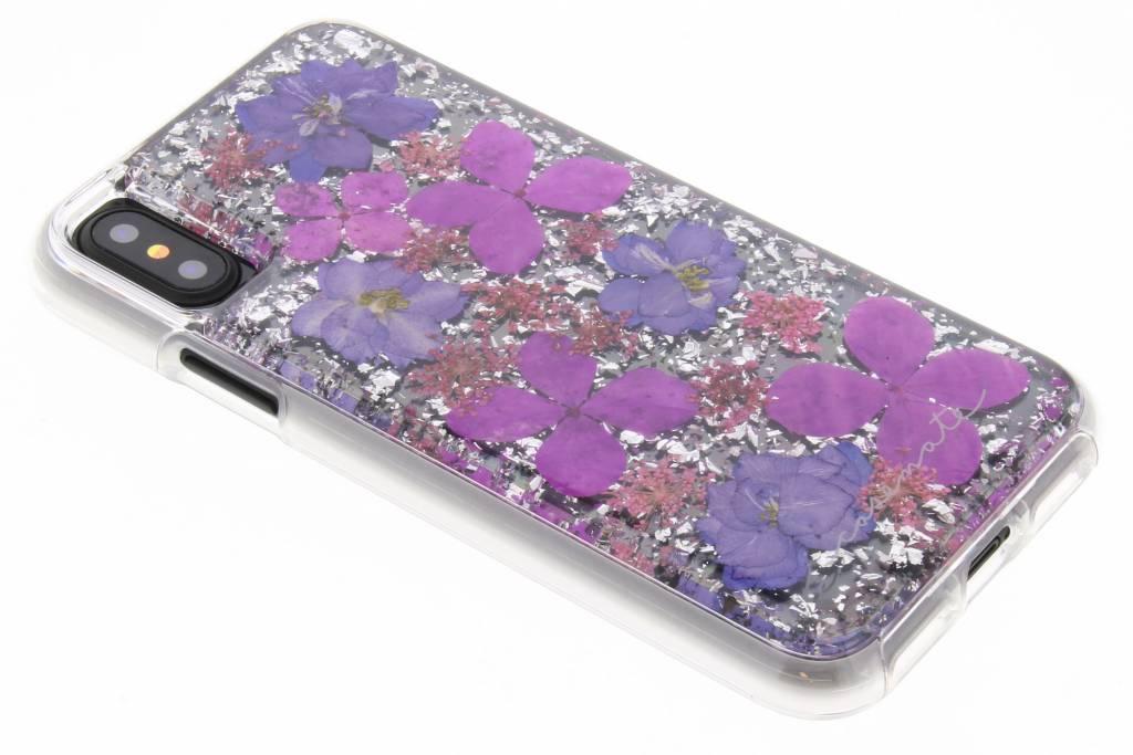 Case-Mate Paarse Karat Petals Case voor de iPhone Xs / X