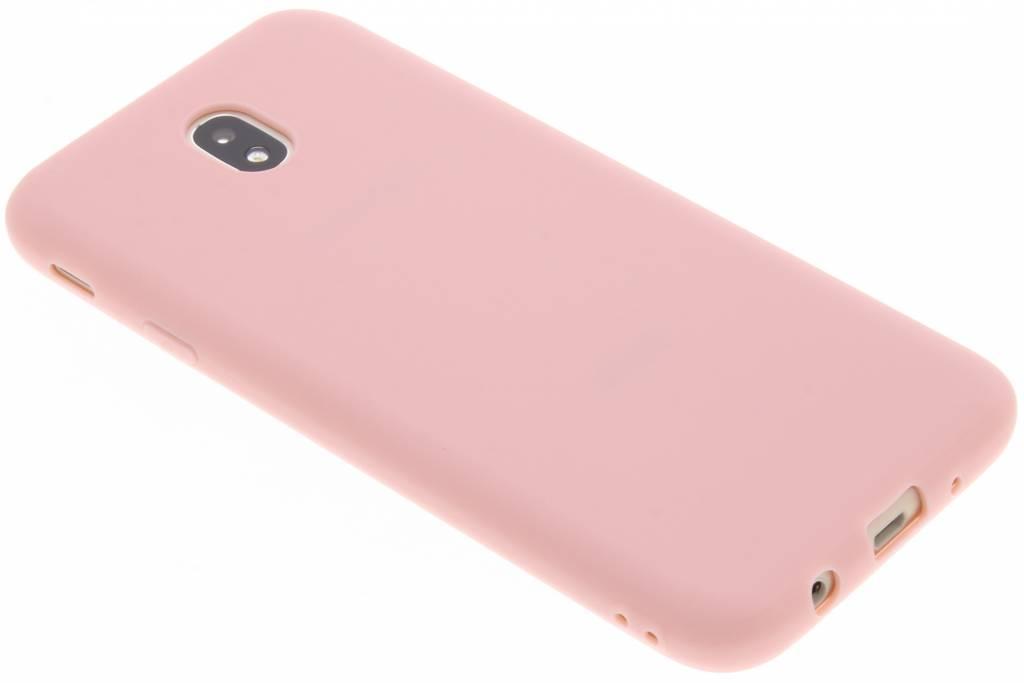 Poederroze color TPU hoesje voor de Samsung Galaxy J7 (2017)