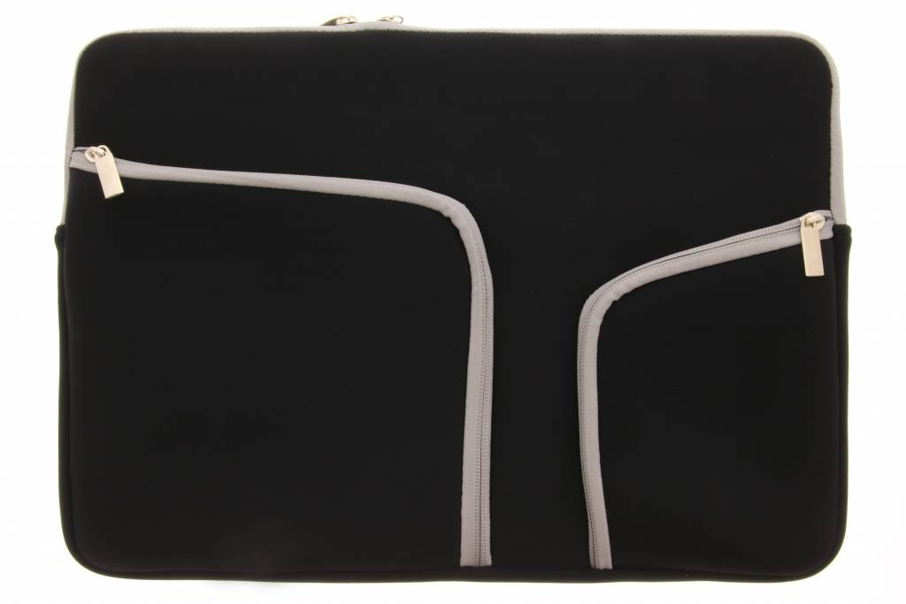 Zwarte universele neopreen laptoptas voor de Macbook 15.4 inch