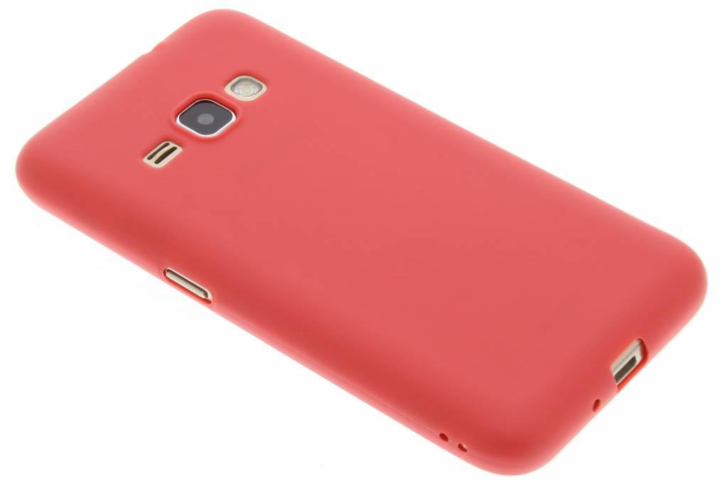 Rood Color TPU hoesje voor de Samsung Galaxy J1 (2016)