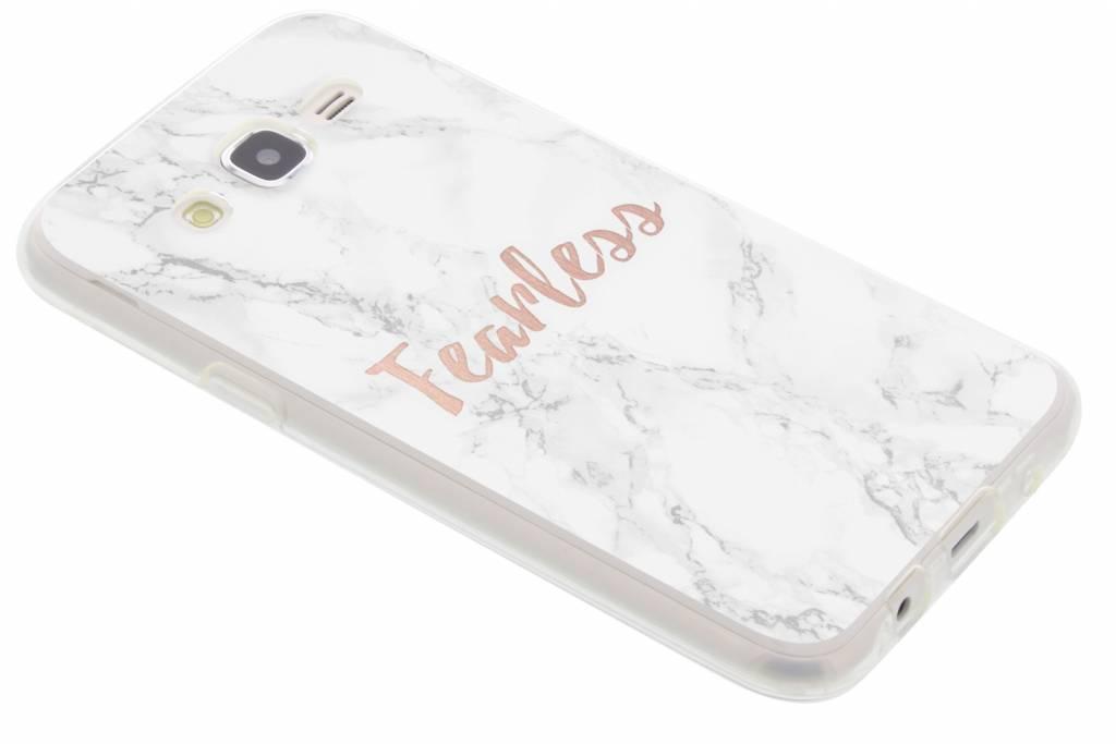 Quote marmer design Fearless TPU hoesje voor de Samsung Galaxy J5