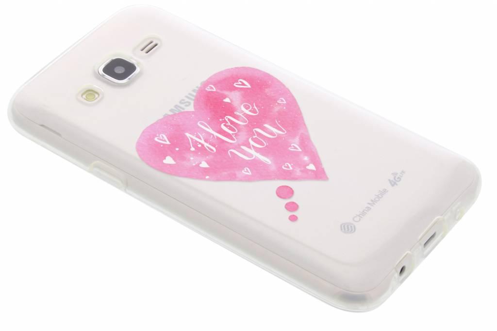 I Love You Heart Love Quote TPU hoesje voor de Samsung Galaxy J5