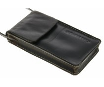 dbramante1928 Leather Lanyard Case - Hunter Dark