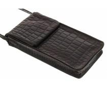 dbramante1928 Leather Lanyard Case - Crocodile Brown