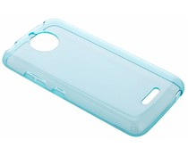 Turquoise transparant gel case Motorola Moto C Plus