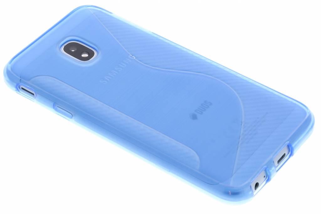 Blauw S-line TPU hoesje voor de Samsung Galaxy J3 (2017)