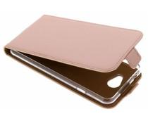Selencia Rosé Goud Luxe TPU Flipcase General Mobile GM6