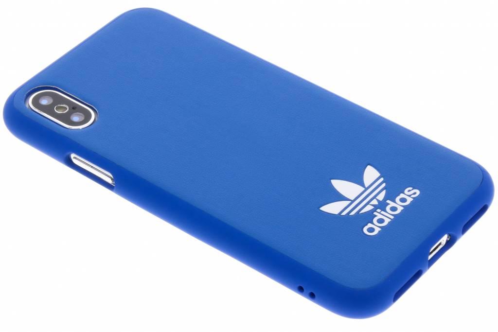 adidas Originals Blauwe Basic Logo Case voor de iPhone X
