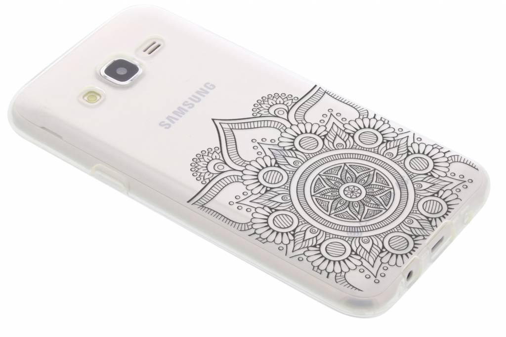 Zwart mandala design TPU hoesje voor de Samsung Galaxy J5