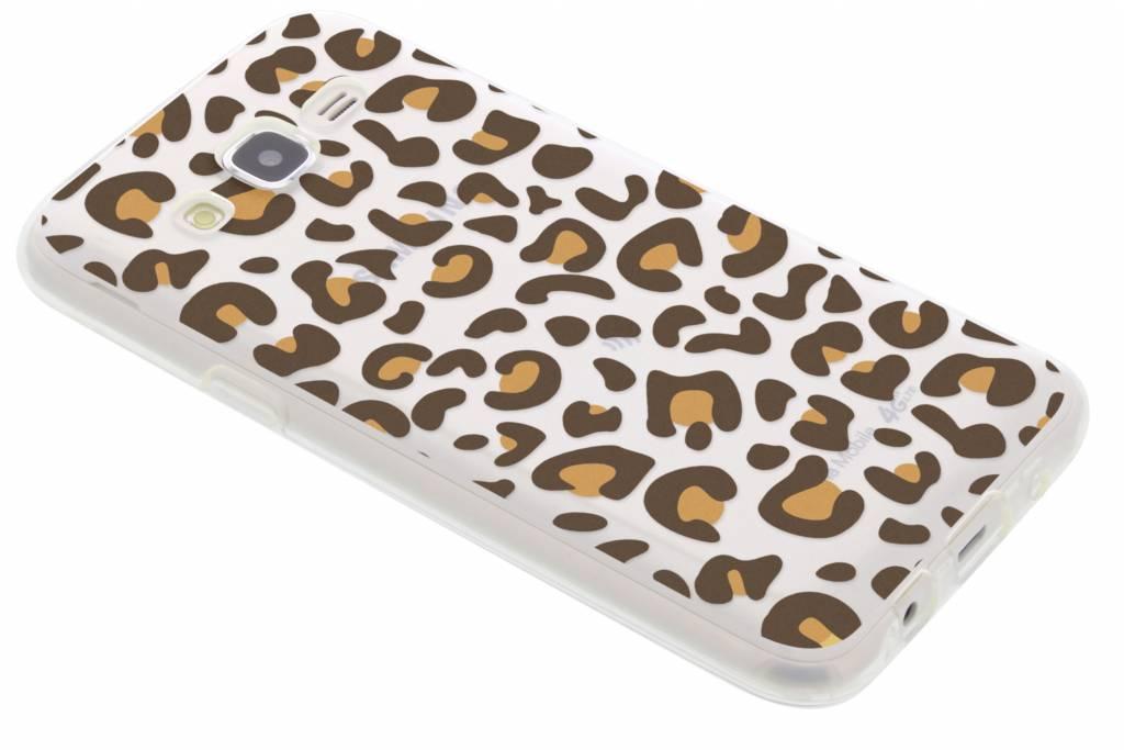 Dierenprint design Luipaard TPU hoesje voor de Samsung Galaxy J5