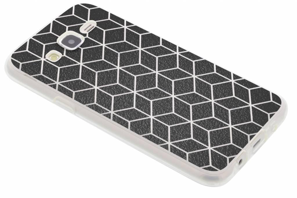 Cubes Black design TPU hoesje voor de Samsung Galaxy J5
