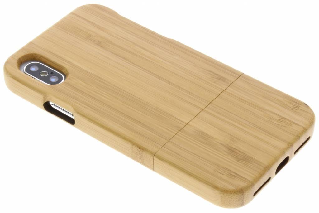 Bamboo echt houten hardcase hoesje voor de iPhone Xs / X