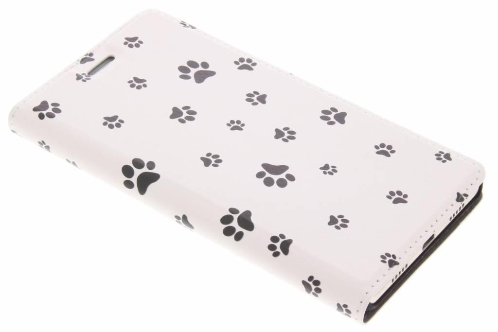 Dierenpootjes Design Booklet voor de Huawei P8 Lite