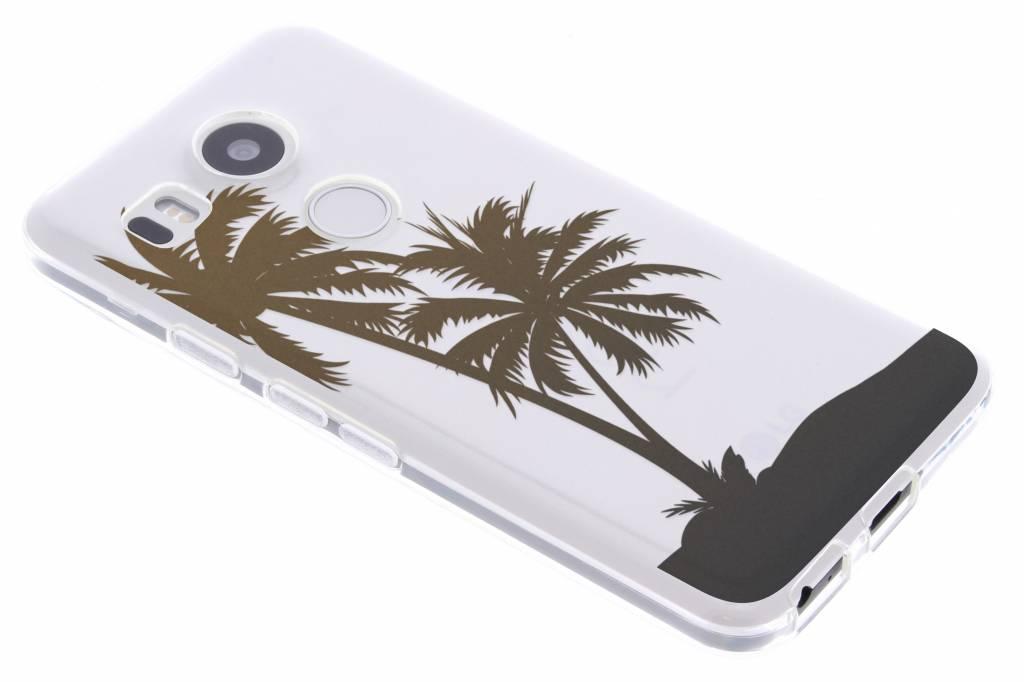 Palmtree Summer TPU siliconen hoesje voor de LG Nexus 5X