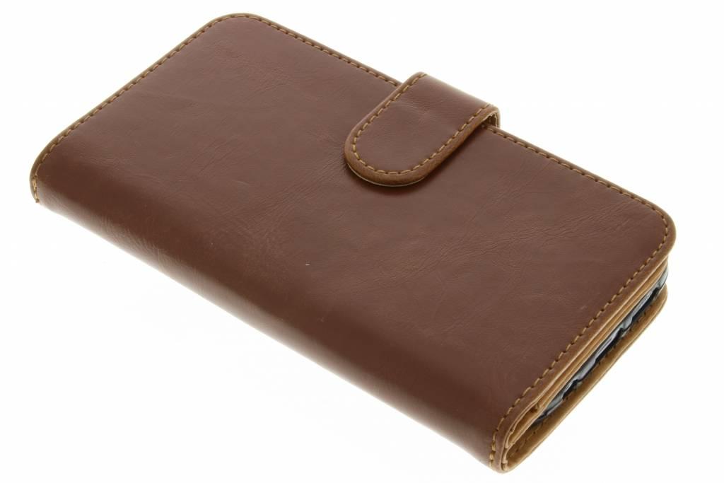 Lichtbruine 14-vaks wallet case voor de Samsung Galaxy S7