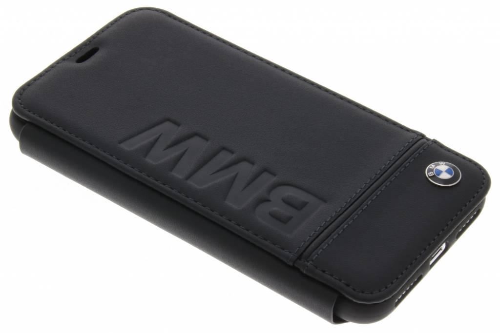 BMW Zwarte Real Leather Booktype Case voor de iPhone Xs / X