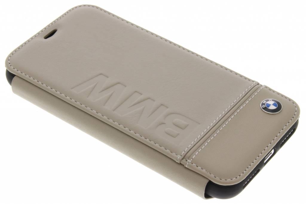 BMW Beige Real Leather Booktype Case voor de iPhone X