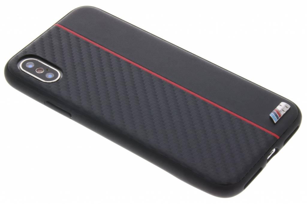 BMW Zwarte / Rode M Line Carbon Hard Case voor de iPhone Xs / X