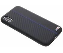 BMW Zwart / Blauw M Line Carbon Hard Case iPhone Xs / X