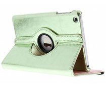 Groen 360° draaibare glamour tablethoes iPad Mini / 2 / 3