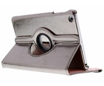 Grijs 360° draaibare glamour tablethoes iPad Mini / 2 / 3
