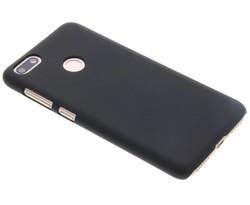 Zwart effen hardcase hoesje Huawei Y6 Pro (2017)