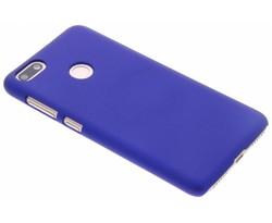 Blauw effen hardcase hoesje Huawei Y6 Pro (2017)