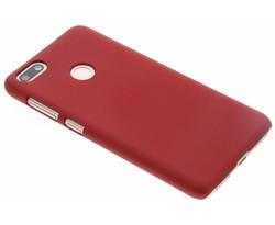 Rood effen hardcase hoesje Huawei Y6 Pro (2017)