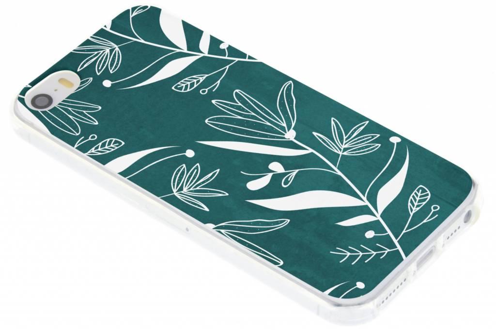 Botanic bloem design TPU hoesje voor de iPhone 5 / 5s / SE