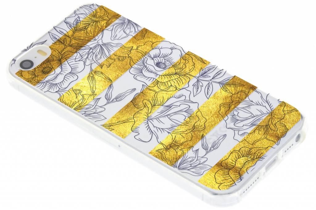 Bloemen design siliconen hoesje voor de iPhone 5 / 5s / SE