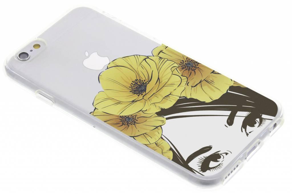 Vrouw design siliconen hoesje voor de iPhone 6 / 6s