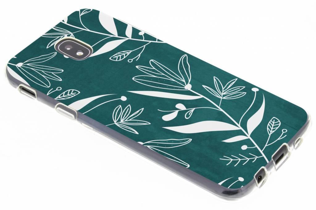 Botanic bloem design TPU hoesje voor de Samsung Galaxy J5 (2017)