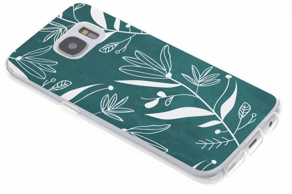 Botanic bloem design TPU hoesje voor de Samsung Galaxy S7