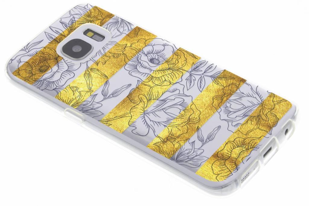 Bloemen design siliconen hoesje voor de Samsung Galaxy S7