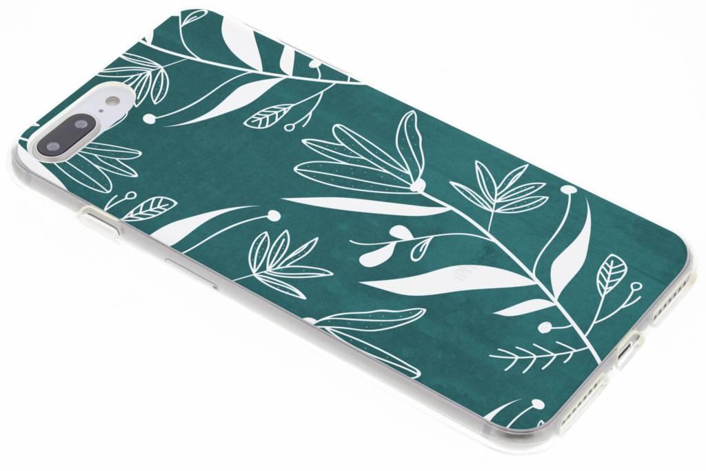 Botanic bloem design TPU hoesje voor de iPhone 8 Plus / 7 Plus