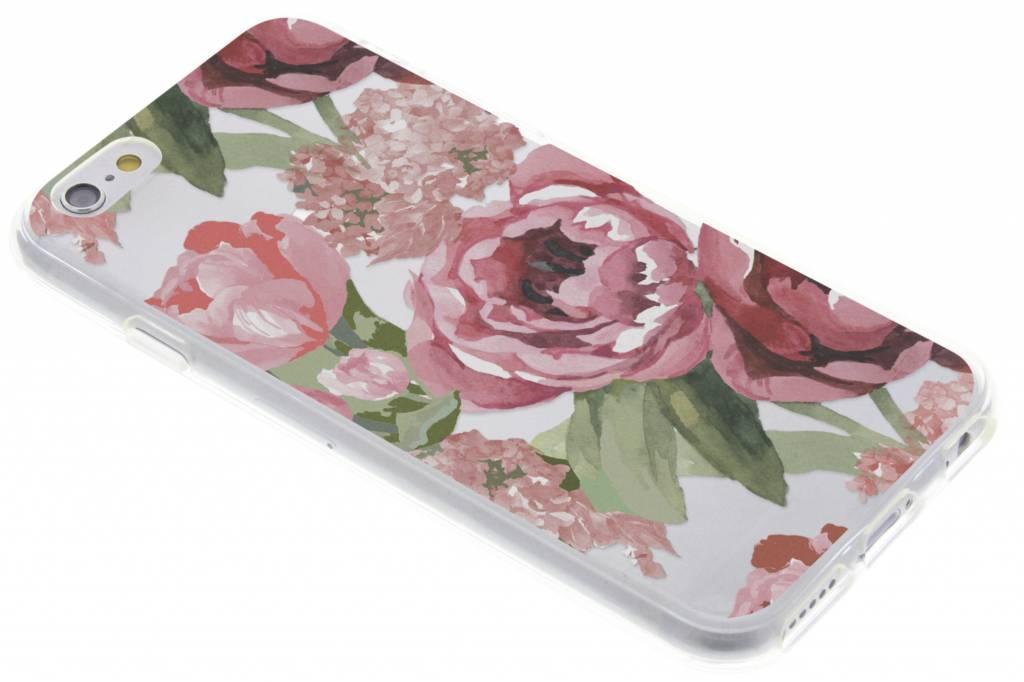 Bloemen design siliconen hoesje voor de iPhone 6 / 6s