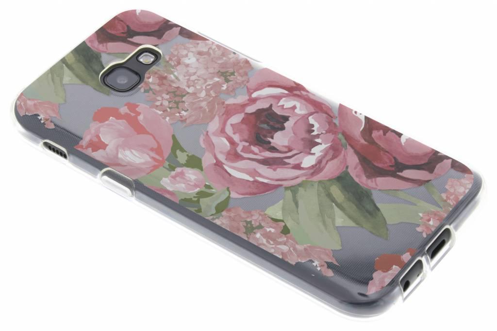 Bloemen design siliconen hoesje voor de Samsung Galaxy A5 (2017)