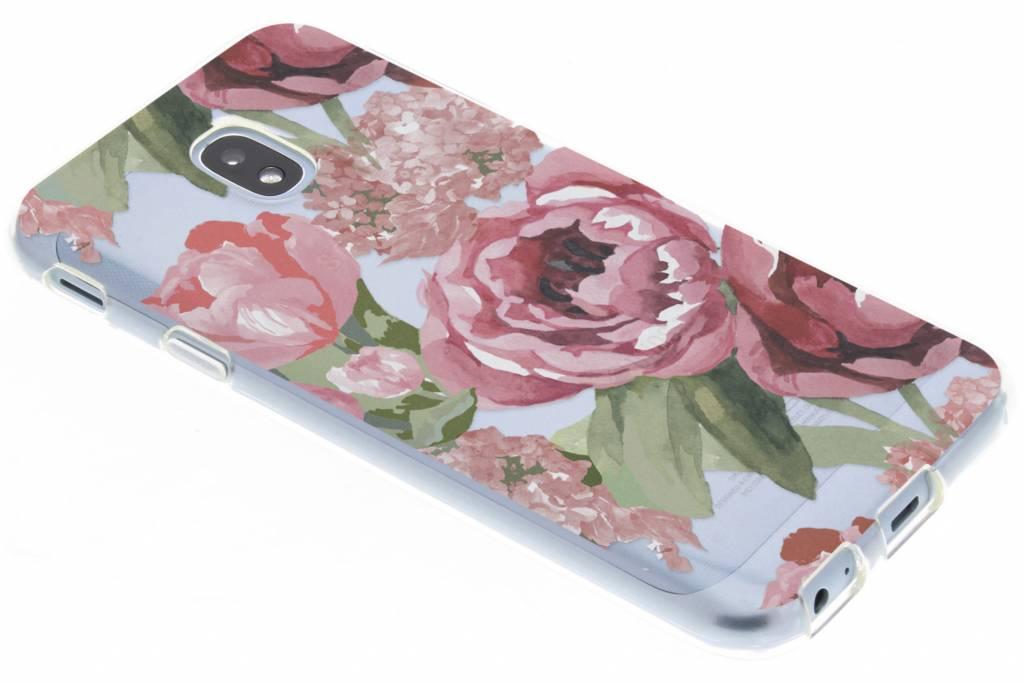 Bloemen design siliconen hoesje voor de Samsung Galaxy J3 (2017)
