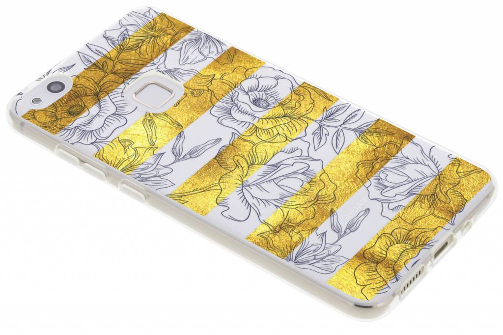 Bloemen design siliconen hoesje voor de Huawei P10 Lite