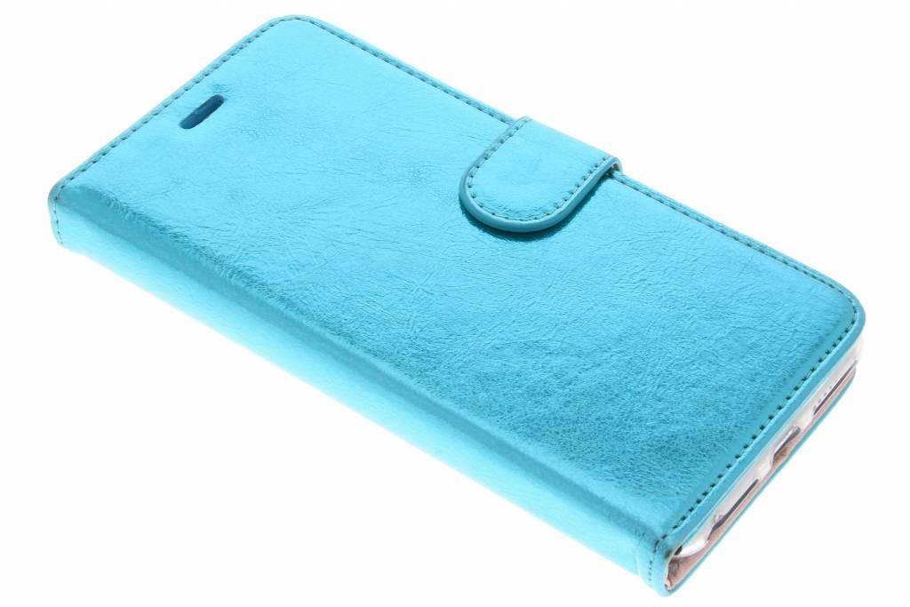 Blauwe glamour design TPU booktype hoes voor de iPhone 8 Plus / 7 Plus / 6(s) Plus